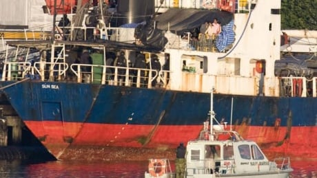 ship that carried hundreds of migrants to canada now a floating toxic stew