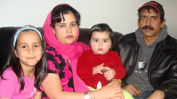 Hamid Farooq's wife and three children, two of whom are in this undated family picture, died following a house fire which also claimed the life of his mother.