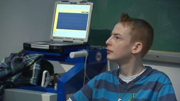 Fifteen-year-old Vincent Lambert is on a mechanical heart at Montreal Children's Hospital as he awaits a donor heart.