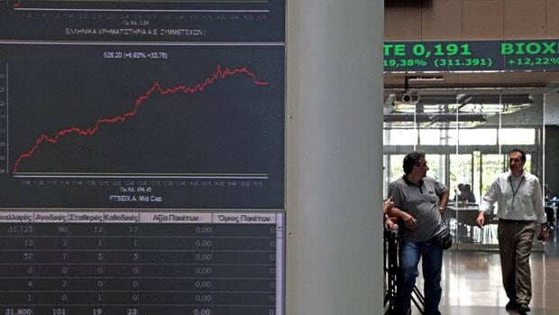 Stocks rocketed higher on the Athens exchange Thursday on hopes that Greek elections in three days will yield a government that can avoid a messy confrontation with the country's bailout creditors and keep it in the eurozone.