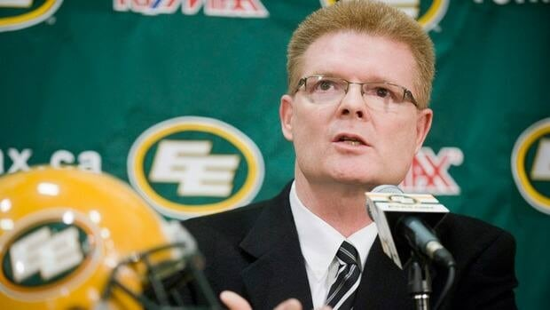 Eric Tillman during a press conference in Edmonton on September 14, 2010.