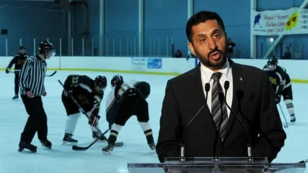 Bal Gosal, the minister of state for amateur sport, announces $1.5 million in funding for programs to prevent brain injuries among children and youth in team sports, at a news conference in Ottawa on Thursday.