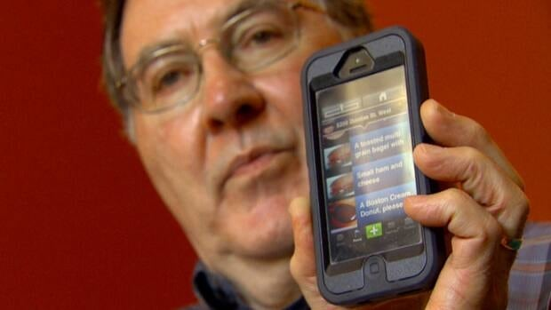 Bill Scott uses the TalkRocket Go app on his iPhone to help him communicate. He says it's given him 'increased confidence' in handling social situations on his own.