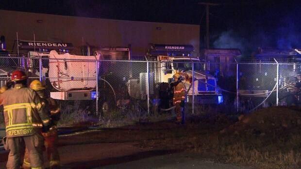 Police are investigating a case of arson in Repentigny.