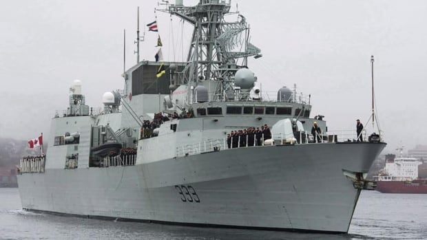 HMCS Toronto seized 154 bags of heroin weighing more than 180 kilograms on the Arabian Sea Saturday.