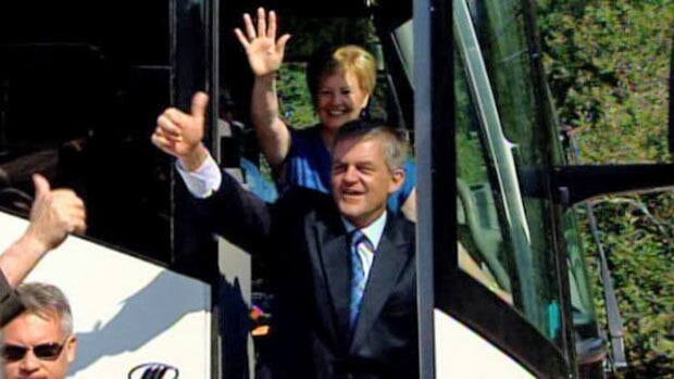 Premier David Alward said his plan to reform MLA pensions was a clear element of his 2010 election campaign platform. (CBC)