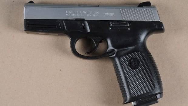 Peel Regional Police say this gun was seized during a search of a Toronto man's residence on the weekend.