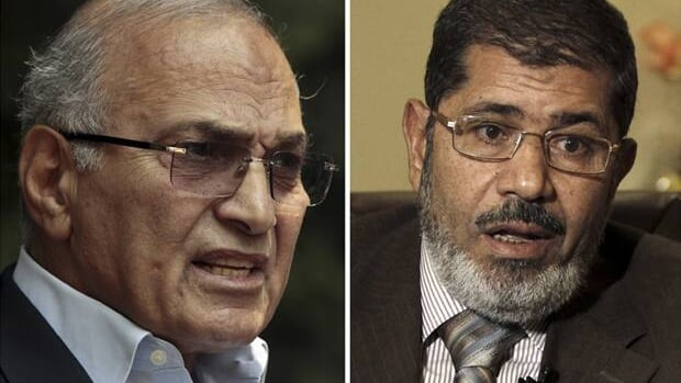 The two candidates in the runoff vote for the Egyptian presidency represent a choice between a secular or Islam-based civil society.