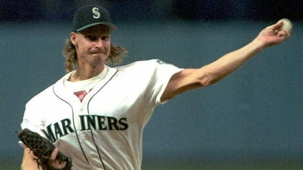 Randy Johnson tossed a three-hitter and struck out 12 for the Mariners in a one-game playoff on Oct. 2, 1995, a 9-1 drubbing of the California Angels.