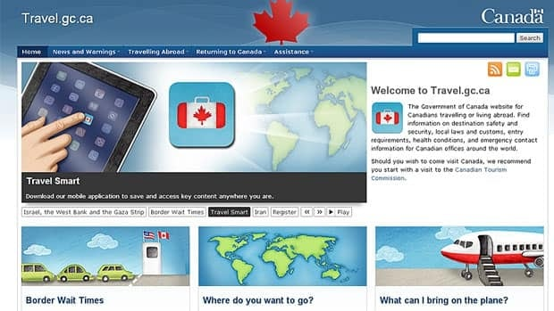 The government has announced its newly revamped website, travel.gc.ca, which can be used to download information onto a smart phone or tablet.