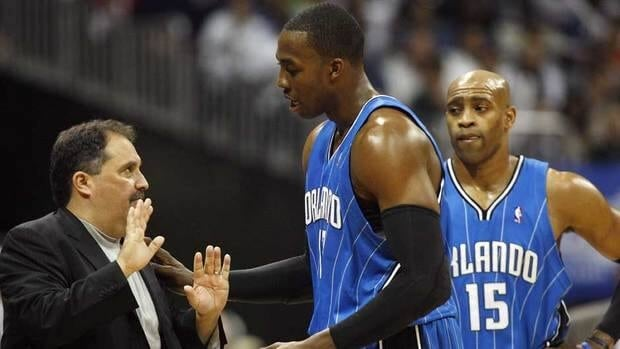 Orlando Magic head coach Stan Van Gundy, left, and Dwight Howard have agreed to move forward.