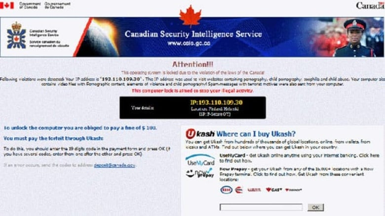Trojan' software extorts money with fake legal threat   CBC News
