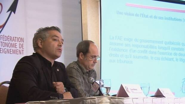 Sylvain Mallette of the Fédération autonome de l'enseignement is calling on the government to revise its secular charter.