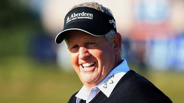 Colin Montgomerie won the European Tour money list a record eight times and received 51 per cent of the vote on the international ballot.