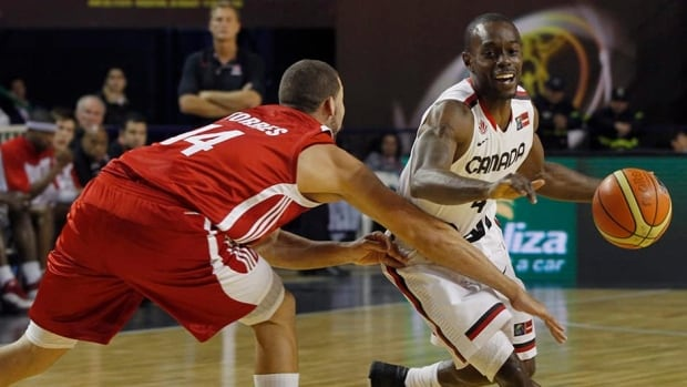 Canada's Jermaine Anderson, right, seen here during a FIBA Americas Championship game in 2011, has made over 75 appearances for Canada. Anderson will have help at this year's tournament with the likes of NBA players Tristan Thompson, Cory Joseph, Andrew Nicholson and Joel Anthony.