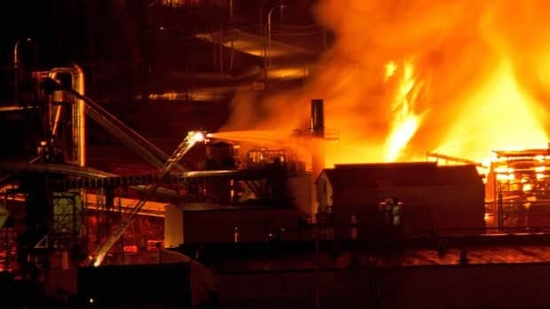 Two men died after an explosion and fire at the Lakeland Mills sawmill in Prince George, B.C., on Tuesday.