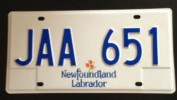An example of the J series of licence plates, which will come into use later this month.