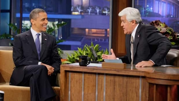 In this photo provided by NBC, President Barack Obama appears on The Tonight Show with Jay Leno on Wednesday.