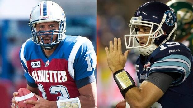 The men under centre for the CFL's East final: Anthony Calvillo of the Montreal Alouettes and Ricky Ray of the Toronto Argonauts. (File/Canadian Press)