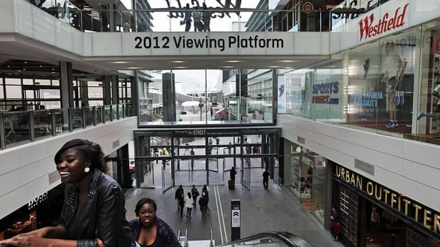 Perched at the edge of London's main Olympic Park, Westfield mall expects to be an entrance point for up to three-quarters of those attending the 2012 Games.