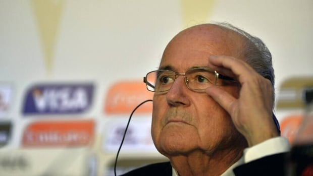 FIFA president Joseph Blatter during a press conference on July 1, 2013 in Rio de Janeiro, Brazil.