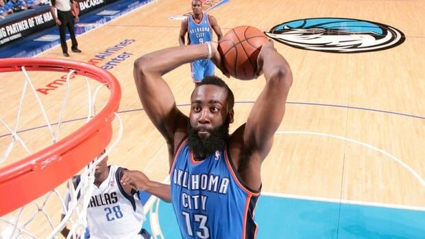 James Harden of the Oklahoma City Thunder took home the NBA Sixth Man of the Year Award on Thursday.