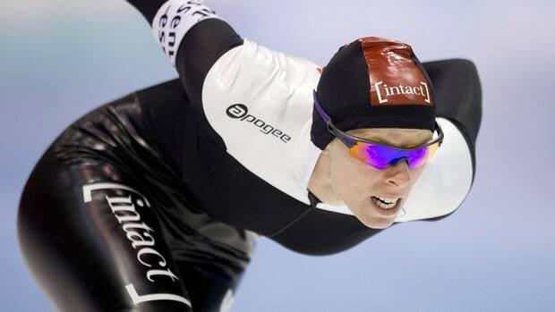 Christine Nesbitt of Canada skates to win the women's 1,500-metre race at the ISU Speedskating World Cup at Thialf stadium in Heerenveen, Netherlands on Saturday.