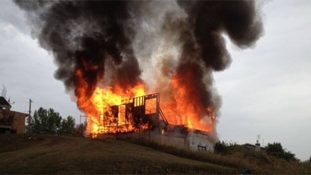 A home at Saskatchewan Beach was completely destroyed in a fire police call suspicious.