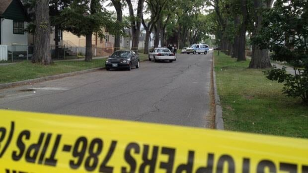 Winnipeg police closed off part of Aberdeen Avenue on Tuesday, as officers began investigating an assault.