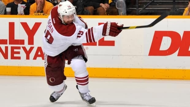 Phoenix captain Shane Doan has played all but 74 of 1,198 NHL games in a Coyotes uniform.