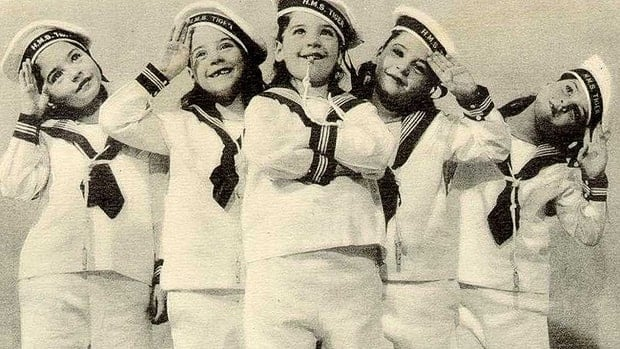The Dionne quintuplets were born during the depression, at at time when people were craving hopeful, good news stories, a North Bay museum curator says. Pictured from left are Cecile, Marie, Annette, Yvonne and Emelie.