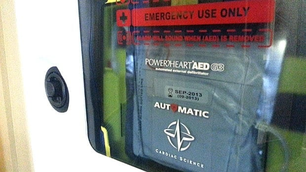 The Heart an Stroke Foundation of Newfoundland and Labrador says there are 209 public schools and eight private schools without one of these, an AED.
