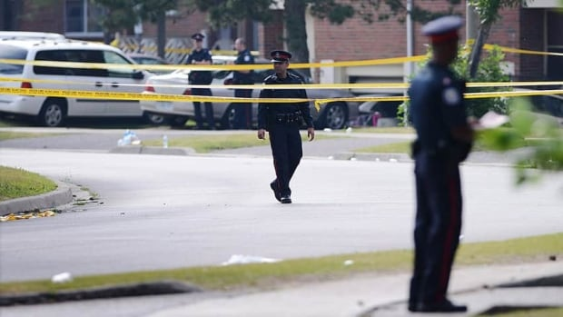 Toronto police said gang violence led to the Danzig Street mass shooting in July of 2012. Two people were killed and more than 20 were injured. (Canadian Press)