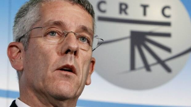 CRTC chairman Jean-Pierre Blais holds a news conference in Gatineau, Que., Oct. 18.
