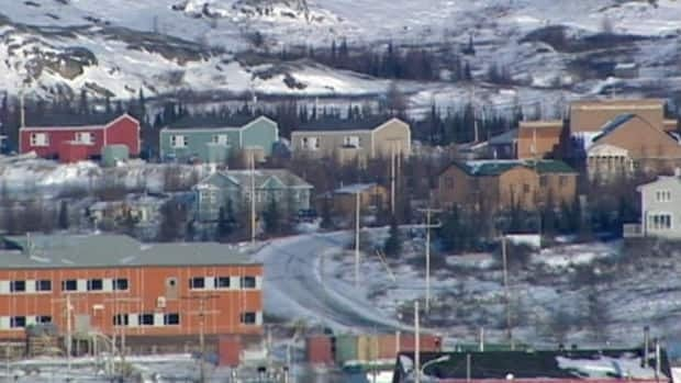 The community of Kuujjuaq, Que., one of the communities in Nunavik. Two people are running to be the vice-president of Makivik Corporation: Adamie Alaku and Michael Gordon.