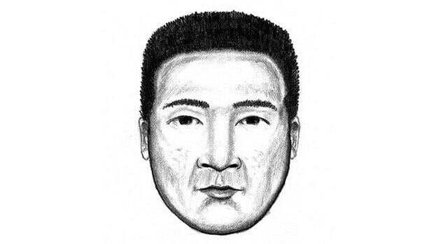 The suspect is described as an Asian male in his mid 30's, with dark hair and eyes, and some bumps on his face. At the time of the incident, the male was wearing a t-shirt, jeans and running shoes.