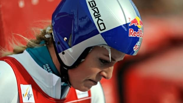 Lindsey Vonn reflects last Friday on her poor showing in the World Cup downhill at Val d'Isere.