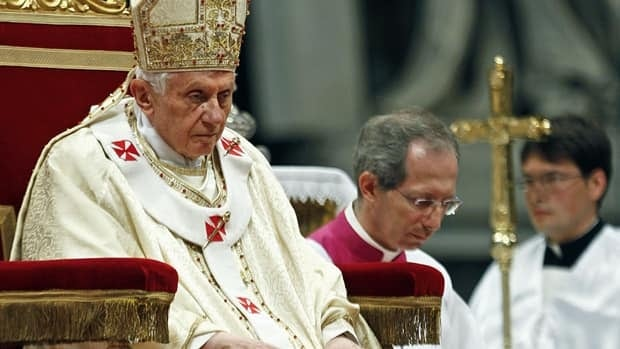 """Pope Benedict XVI said the Pfarrer Initiative, a group of Austrian priests seeking to open up the priesthood, are making a """"desperate push"""" to change the Roman Catholic Church."""