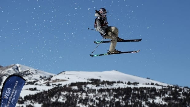 Kaya Turski of Canada competes in the ladie's freeskiing slopestyle final on Sunday in California.