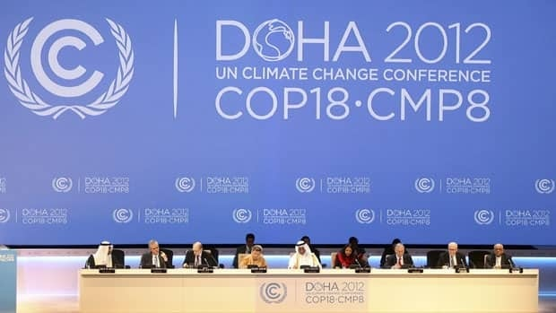 World leaders are gathered in Doha, Qatar, for the 18th United Nations climate change conference. U.N. Secretary-General Ban Ki-moon told reporters Wednesday that the developed world should bear most of the resposibility for fighting global warming.