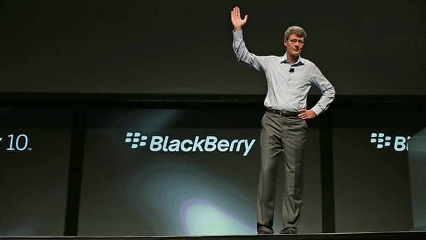 Research in Motion CEO Thorsten Heins speaks during a conference in San Jose in September which gave software developers a look at the new BlackBerry 10 operating system.