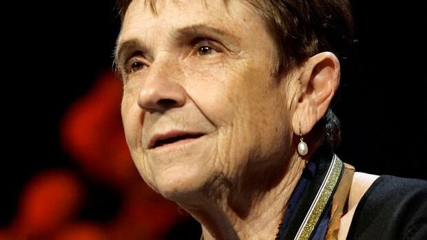 Poet Adrienne Rich addresses dinner guests on Nov. 15, 2006 after receiving the Medal for Distinguished Contribution to American Letters at the 2006 National Book Awards sponsored by The National Book Foundation in New York. Rich has died at age 82.