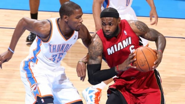timeless design e360a ec1e0 LeBron James (6) of the Heat and Kevin Durant of the Thunder will command  the spotlight in the NBA finals, beginning Tuesday. (Layne Murdoch Getty  Images)
