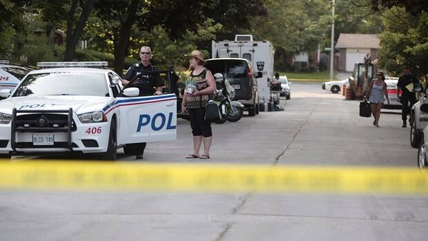 Barrie Police have evacuated approximately 25 homes as a precaution after explosives were found at a residence on Virgilwood Crescent in Barrie, Ont.