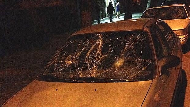 More than 10 vehicles were vandalized while people were in evening prayers at Winnipeg's central mosque.