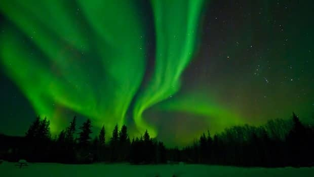 Aurora borealis in Wood Buffalo National Park. The Royal Astronomical Society of Canada designated Wood Buffalo National Park as Canada's newest and the world's largest Dark Sky Preserve on Friday.