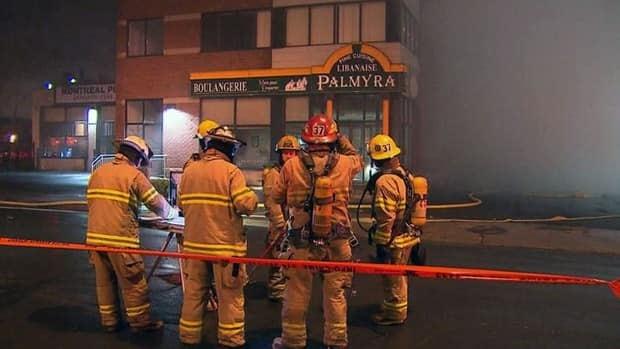 The five-alarm fire broke out just after 1 a.m.