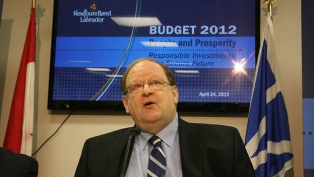 Finance Minister Tom Marshall speaks with reporters before delivering the 2012 Newfoundland and Labrador budget.
