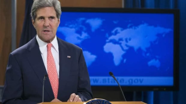 U.S. Secretary of State John Kerry says, 'Our sense of basic humanity is offended not only by this cowardly crime but also by the cynical attempt to cover it up.'