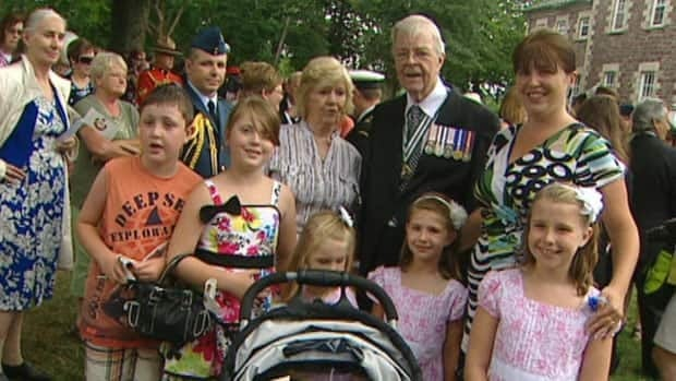 Lt.-Gov. John Crosbie and guests at the 2012 Government House garden party.